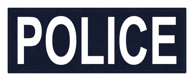 POLICE ID Patch - 11x4 - White Lettering - Navy Backing - Hook Fabric
