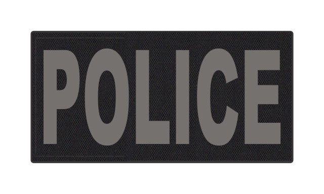 POLICE ID Patch - 4x2 - Gray Lettering - Black Backing - Hook Fabric
