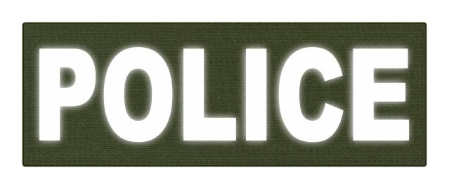 Paramedic reflective 4x 11 back patch black/ grey   640263.