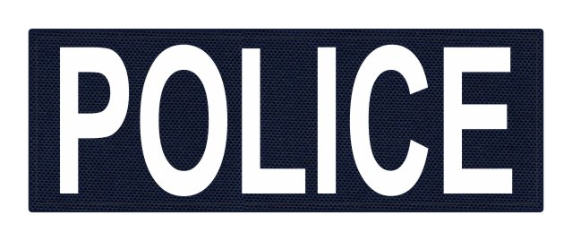 POLICE ID Patch - 8.5x3.0 - White Lettering - Navy Backing - Hook Fabric