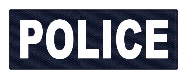 POLICE ID Patch - 8.5x3.0 - White Lettering - Black Backing - Hook Fabric