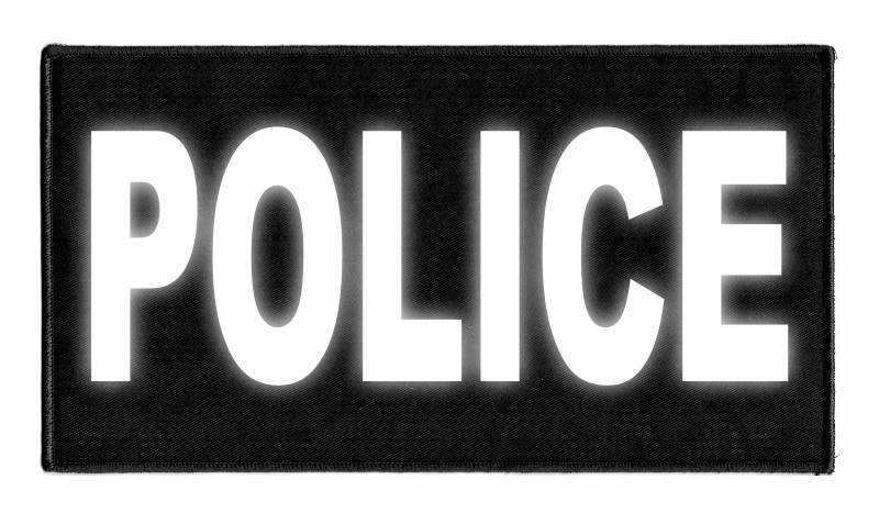 POLICE Identification Patch - 11x6 - Reflective Lettering - Black Backing