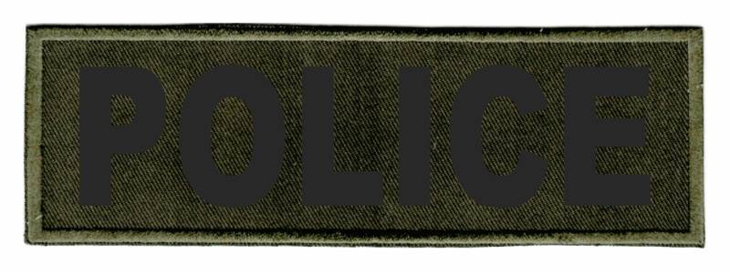POLICE Identification Patch - 6x2 - Black Lettering - OD Green Twill Backing