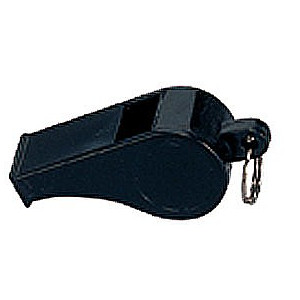 Police Whistle - Black - Plastic