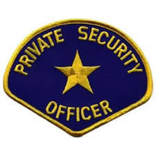 PRIVATE SECURITY OFFICER Shoulder Patch - Gold Lettering: Royal Blue Backing