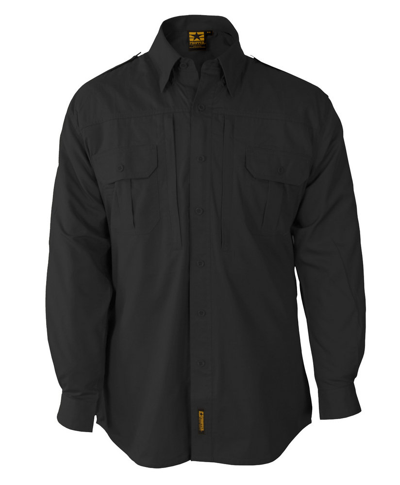 Propper Lightweight Tactical Dress L/S Shirt, 65/35 Poly/Cotton Ripstop