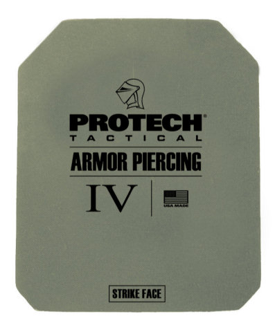 ProTech 2116G Type IV Rifle Plate - Ceramic/Fiberglass 8x10 Single Curve, Rectangle