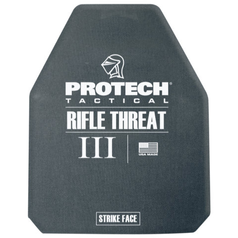 ProTech 2120-5 Type III Rifle Plate - Ceramic/Poly 10x12-inch Multi-Curve (Shooters Cut)