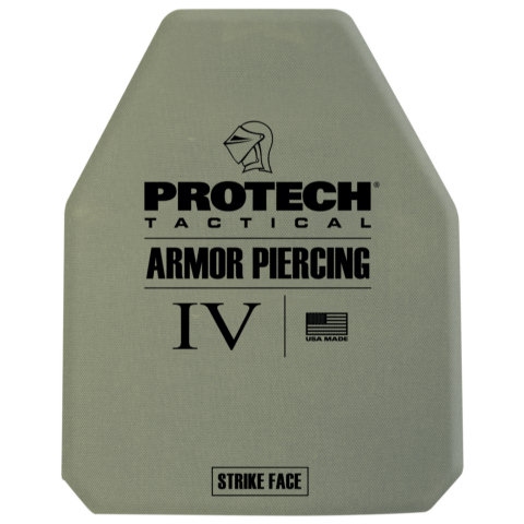 ProTech 2230 Type IV Stand Alone Rifle Plate - Ceramic/Aramid 10x12 Multi Curve, Shooters Cut