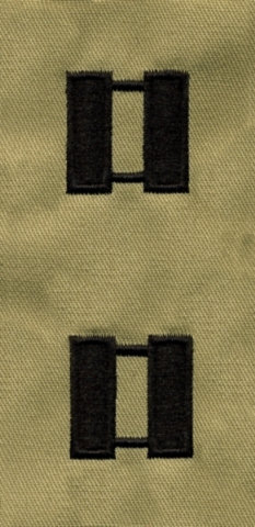 Rank Insignia - Cloth Sew On - Pair - Air Force Captain - Desert