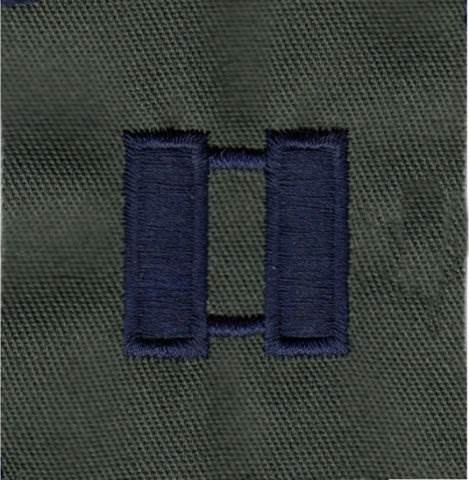 Rank Insignia - Cloth Sew On - Pair - Air Force Captain - Subdued