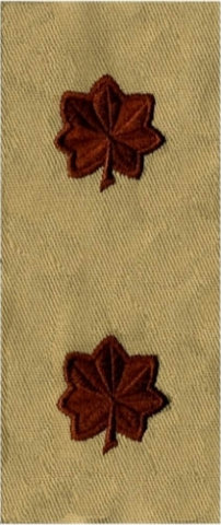 Rank Insignia - Cloth Sew On - Pair - Air Force Major - Desert