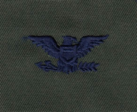 Rank Insignia - Cloth Sew On - Pair - Air Force Colonel - Subdued