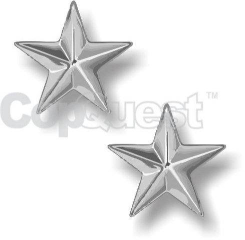 Rank Insignia - Stars - 1 Star - Silver - Pair