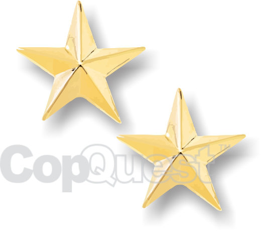 Rank Insignia - Stars - 1 Star - Gold - Pair