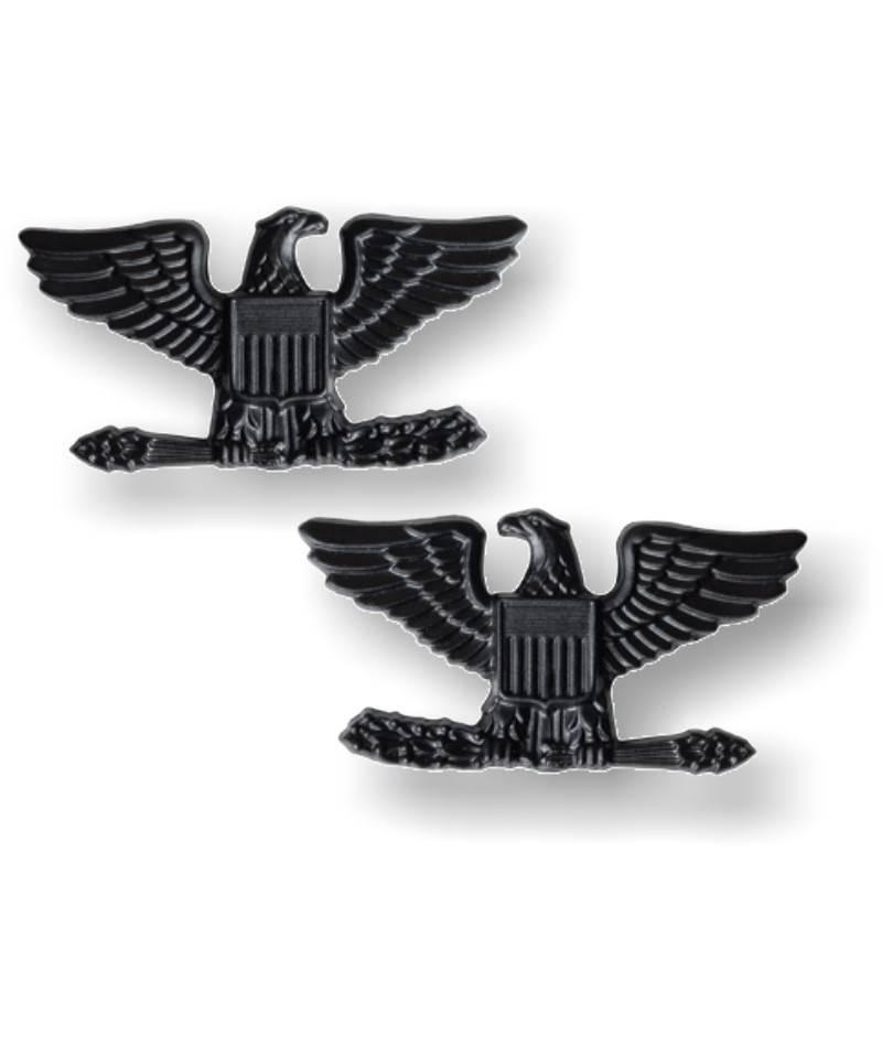 Collar Rank Insignia Tactical Black Colonel 15 Off