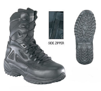 Reebok RB8874 Tactical Rapid Response 8-inch Side Zip Safety Toe Boots 00dc3d978