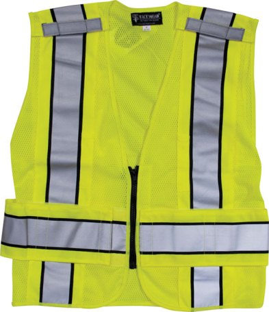 Reflective Traffic Safety Vest - No Markings - ANSI 207-2006 Compliant