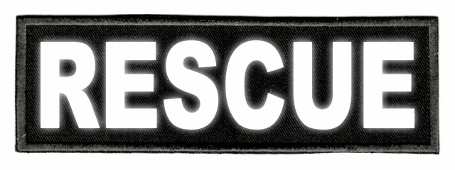 RESCUE ID Patch - 6x2 - Reflective Lettering - Black Twill Backing