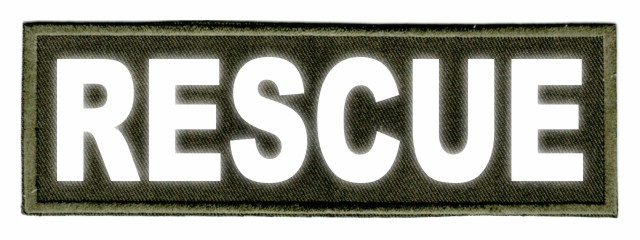 RESCUE ID Patch - 6x2 - Reflective Lettering - OD Green Twill Backing