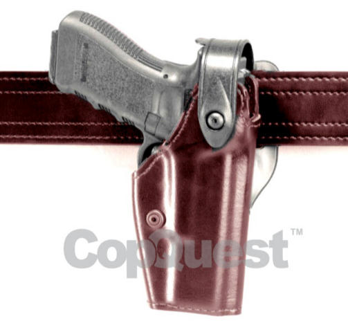 Safariland 6285 Level II Low-Ride Duty Holster - Tac Light - Cordovan