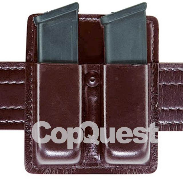 Safariland 75 Double Open Top Magazine Pouch - Cordovan