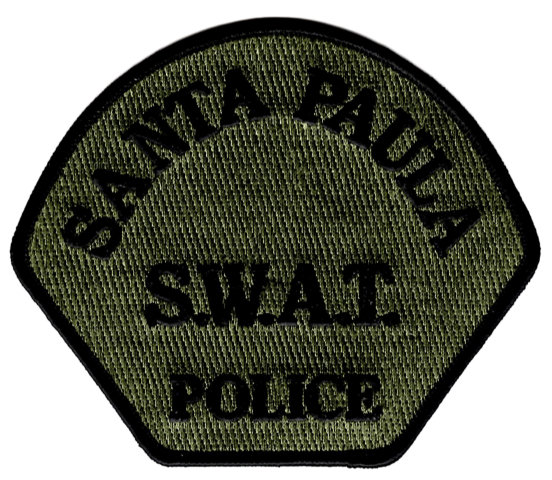 Santa Paula Police Department - Shoulder Patch - SWAT- Pair (Consigned)