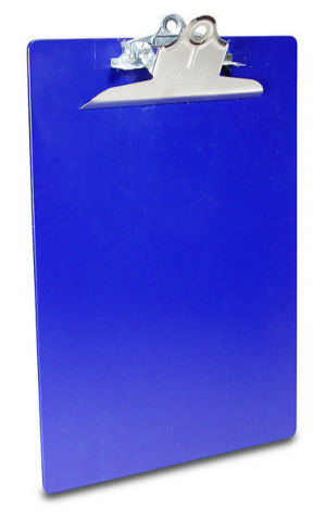 Saunders Color Clipboard Letter Size with 6-inch clip - Blue
