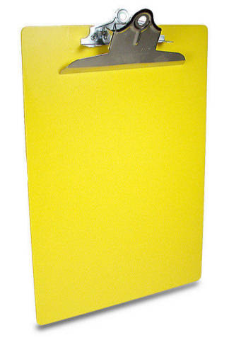Saunders Color Clipboard Letter Size with 6-inch clip - Yellow