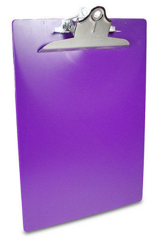 Saunders Color Clipboard Letter Size with 6-inch clip - Purple