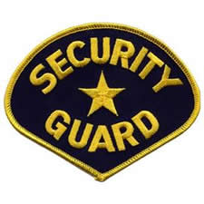 SECURITY GUARD Shoulder Patch - Gold Lettering with Navy Backing