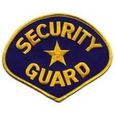 SECURITY GUARD Shoulder Patch - Gold Lettering with Royal Blue Backing