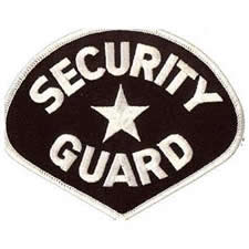 SECURITY GUARD Shoulder Patch - White Lettering with Black Backing