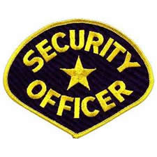 SECURITY OFFICER Shoulder Patch - Gold Lettering with Royal Blue Backing