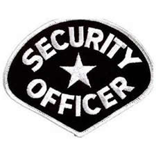 SECURITY OFFICER Shoulder Patch - White Lettering with Black Backing