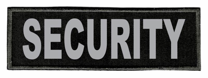 SECURITY Patch - 6x2 - Gray Lettering - Black Twill Backing