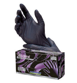 Shadow Tactical Exam Gloves - 5 mil - Black Nitrile
