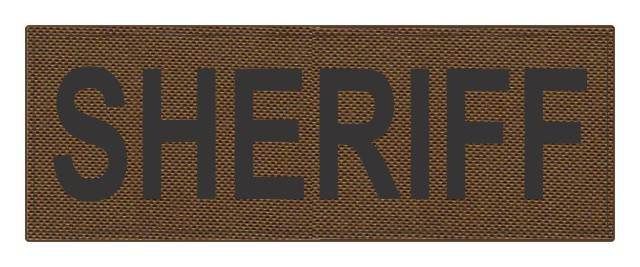 SHERIFF ID Patch - 11x4 - Black Lettering - Coyote Backing - Hook Fabric
