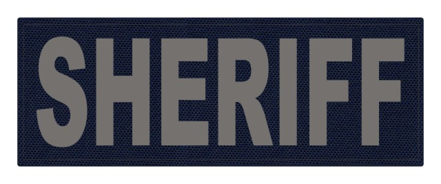 SHERIFF ID Patch - 11x4 - Gray Lettering - Navy Backing - Hook Fabric
