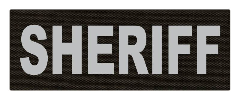 SHERIFF ID Patch - 11x4 - Gray Lettering - Ranger Green Backing - Hook Fabric