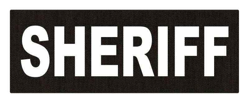 SHERIFF ID Patch - 11x4 - White Lettering - Ranger Green Backing - Hook Fabric