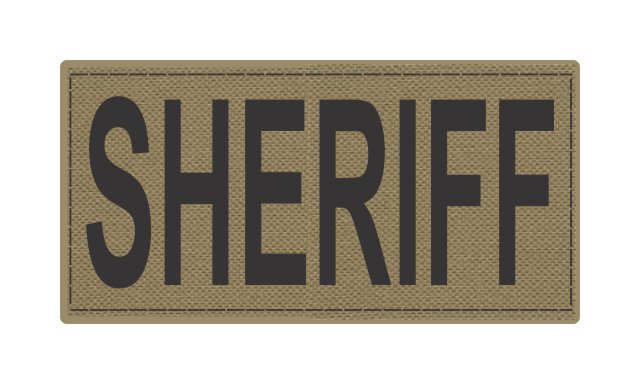 SHERIFF ID Patches - 4x2 - Black Lettering
