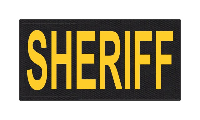 SHERIFF ID Patch - 4x2 - Gold Lettering - Black Backing - Hook Fabric