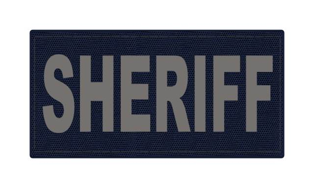 SHERIFF ID Patch - 4x2 - Gray Lettering - Navy Backing - Hook Fabric