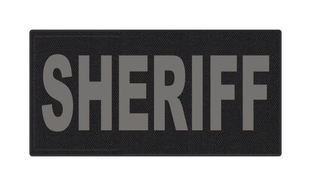 SHERIFF ID Patch - 4x2 - Gray Lettering - Black Backing - Hook Fabric