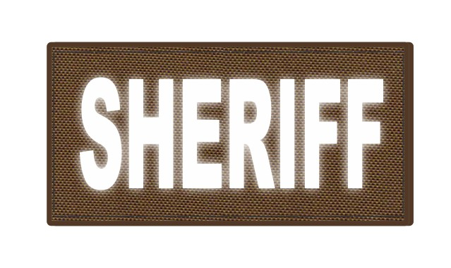 SHERIFF ID Patch - 4x2 - Reflective Lettering - Coyote Backing - Hook Fabric