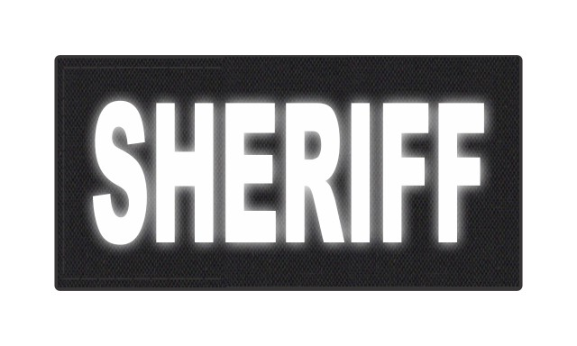 SHERIFF ID Patch - 4x2 - Reflective Lettering - Black Backing - Hook Fabric