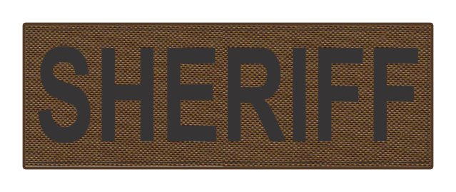 SHERIFF ID Patch - 8.5x3.0 - Black Lettering - Coyote Backing - Hook Fabric