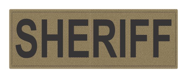 SHERIFF ID Patch - 8.5x3.0 - Black Lettering - Tan Backing - Hook Fabric
