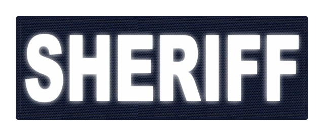 SHERIFF ID Patch - 8.5x3.0 - Reflective Lettering - Navy Backing - Hook Fabric